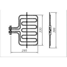 ТЭН 800-2600 Вт 230 В для бытовой духовки