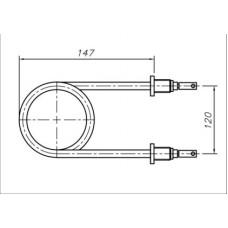 ТЭН 2500-3200 Вт 230 В для профессионального пищевого котла КПЕ-100/125