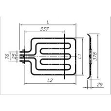 ТЭН 2300-2600 Вт 230 В для бытовой духовки