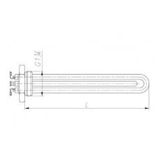 Блок-ТЭН 4000 Вт 230 В медный для котла электрического