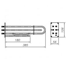 Блок-ТЭН 9000 Вт 230 В для профессионального пищевого котла ТМ Abat с трубкой под термопар