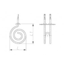 ТЭН 600-3000 Вт 230 В для канальной вентиляции