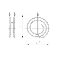 ТЭН 1200-3000 Вт 230 В для канальной вентиляции